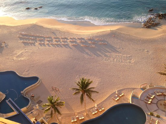 The Westin Los Cabos Resort Villas & Spa: Golden Hour - Beach and pool view from our room