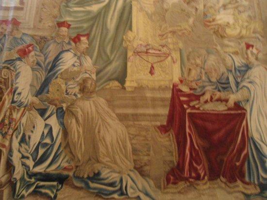 Sistine Chapel: Mais uma das várias pinturas dos corredores do Vaticano