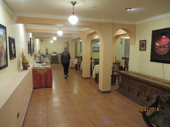 El Virrey Boutique Hostal : lugar de desayuno