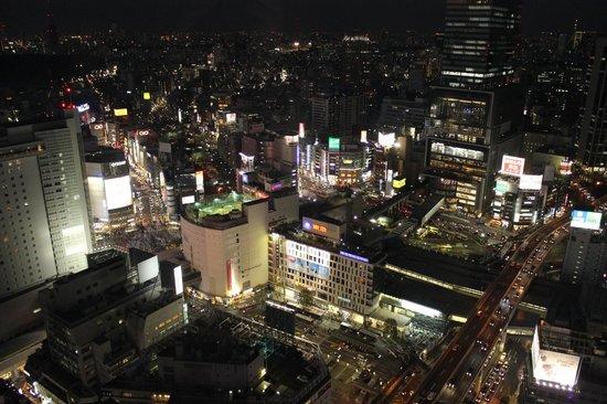 Cerulean Tower Tokyu Hotel : View towards Shibuya Crossing