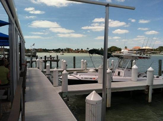 Marco River, looking West from The Snook inn.