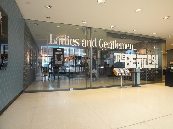 Lincoln Center for the Performing Arts: Beatles exhibition entrance