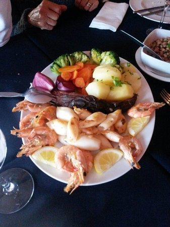 Restaurante Atlantico : Lulas grelhadas com gambas
