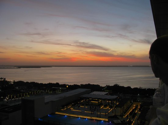 Secrets The Vine Cancún: Sunset from 1803