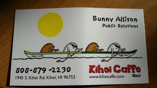 Kihei Caffe: Business Card
