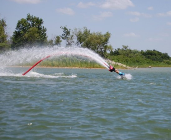 Flyboard North Texas: Me doing the dolphin