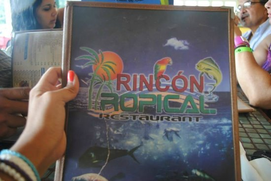 Rincon Tropical Restaurant: Menú