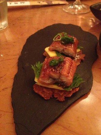 Mochi : Japanese eel and mango