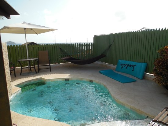 Sandals Grande St. Lucian Spa & Beach Resort: our private pool
