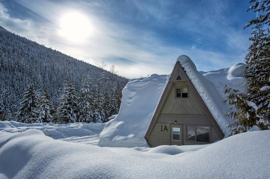 Nakusp Hot Springs: Our cozy chalets! Courtesy of Lee Orr