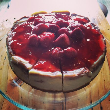 Station Coffee Company: Strawberry swirl cheesecake!!