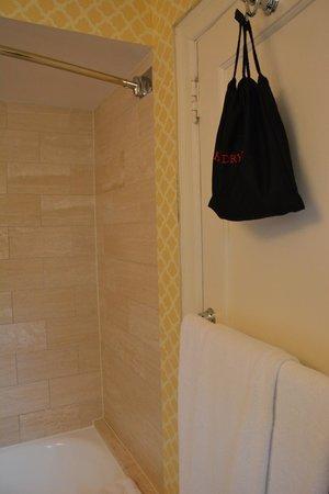 Omni Shoreham Hotel : Hairdryer on back of bathroom door