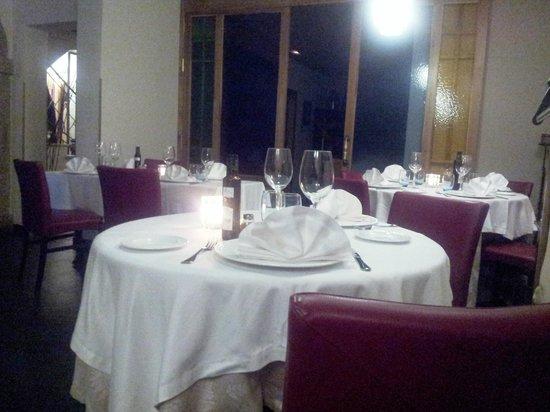 Casona de Torres Hotel: Mesa a la luz de las velas