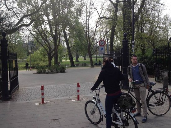 We Bike Amsterdam Tours: Our fearless leader on the right =)
