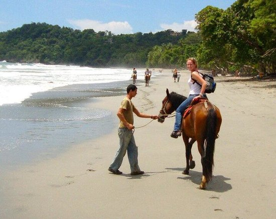 Playa Manuel Antonio : Manuel Antonio horseback riding through the rainforest and beach