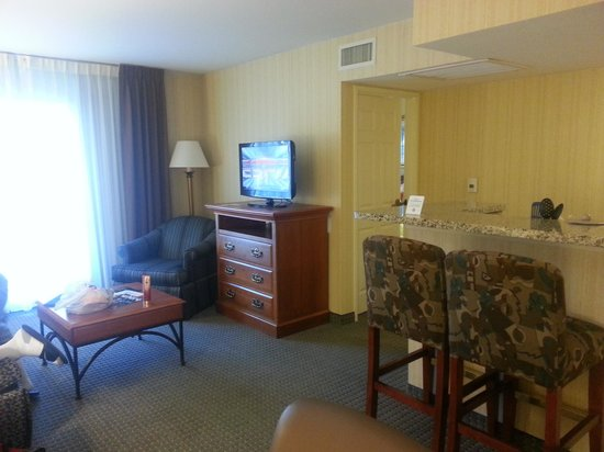Hawthorn Suites by Wyndham Dallas Park Central: Huge living room
