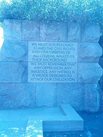 Franklin Delano Roosevelt Memorial : A wise man!