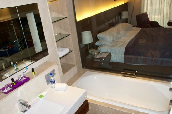 The Lalit New Delhi: View of Room from Bathroom