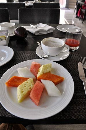 The Lalit New Delhi: Fruit salad especially made for us