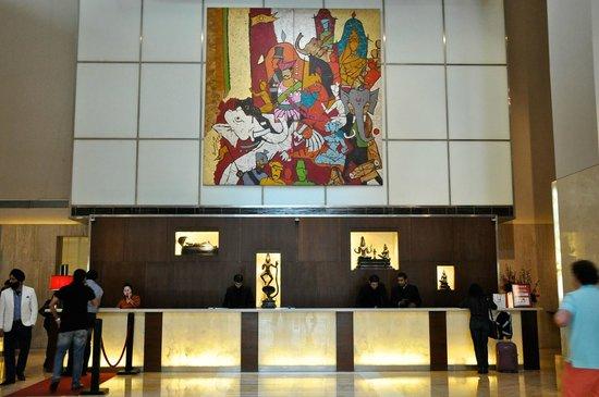 The Lalit New Delhi: Local artwork at Checkin area