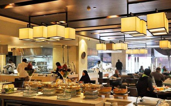 The Lalit New Delhi: Main dining area on 1st floor