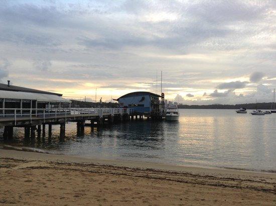 Doyles on the Beach: The wharf at sunset