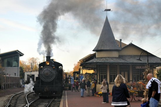 New Hope & Ivyland Railroad : New Hope RR station