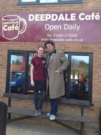 Msrco Pierre White visiting Deepdale Cafe for Fish & Chips