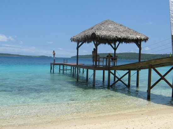 The Havannah, Vanuatu: Private beach area for weddings and dinners