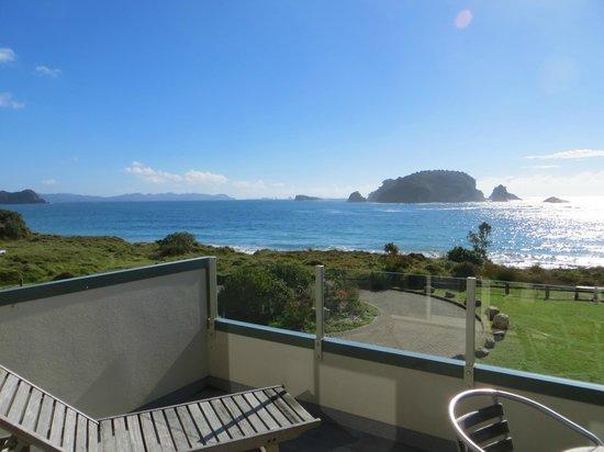Hahei Holiday Resort: View from balcony upstairs