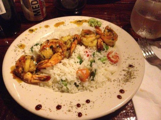 Pasta y Pueblo: coconut shrimp
