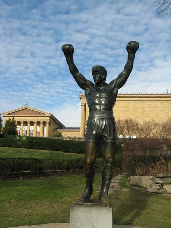 Rocky Statue at the art museum