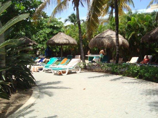 Hotel Riu Playacar: Zona Piletas