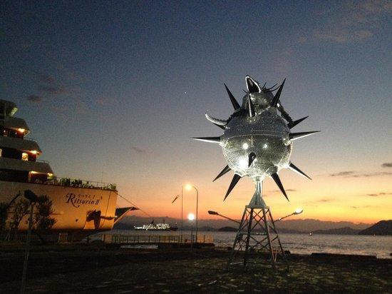 坂手港にあるスターアンガー(施設から車で15分)The star anger at Sakate port(15 min by car)