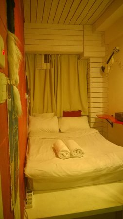 Just Inn: A room that artwork was recently added to. I found it open and took a picture.
