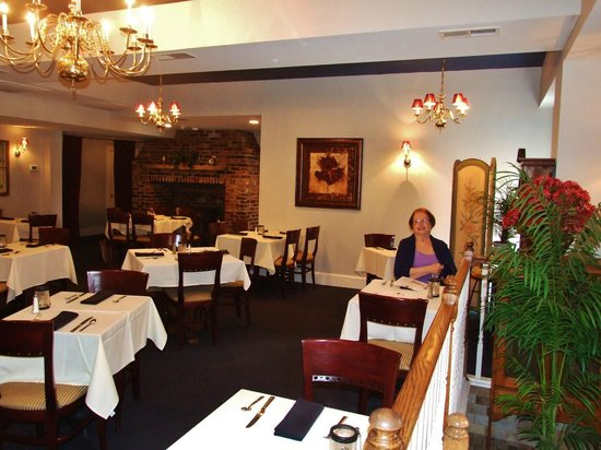 The Brick Restaurant & Tavern: Crackling fire in the other dining room