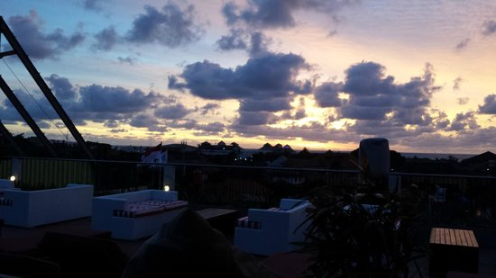The ONE Legian: Sunset from roof top