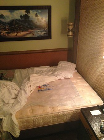 Disney's Polynesian Village Resort: Rain poncho found under mattress cover