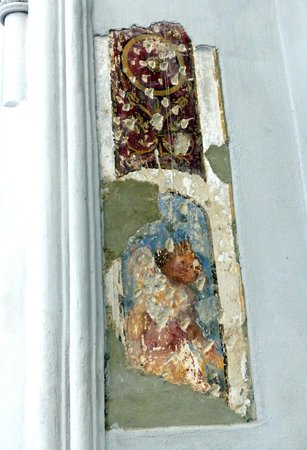 Augustinerkirche: Old wall fresco at St. Augustine's Church
