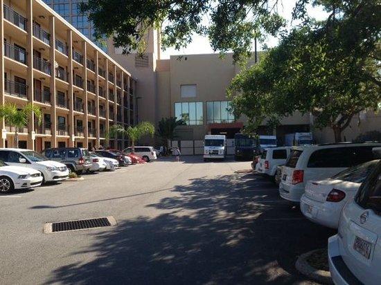 Wyndham Lake Buena Vista Disney Springs Resort Area: Parking Lot with delivery bays