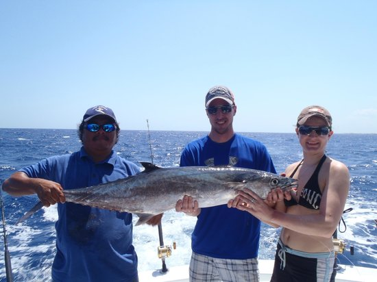 Cozumel Charters : Ben and Mel huge kingfish