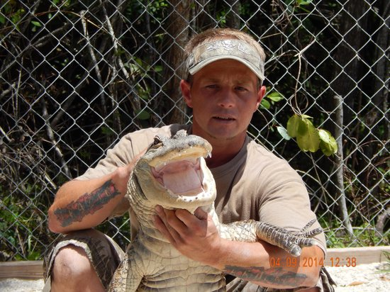 Jungle Erv's Everglades Airboat Tours : Chris and Lucky