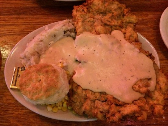 TEXAZ Grill: Big enough for 2!!! Chicken fried steak.....the bomb!