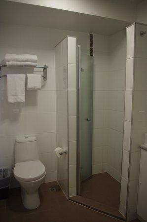 Mercure Grosvenor Hotel: spacious room but tiny shower