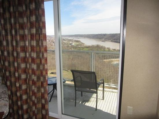 Clifty Inn : Suite 401: Balcony off the bedroom. Views of Madison and the Ohio River.
