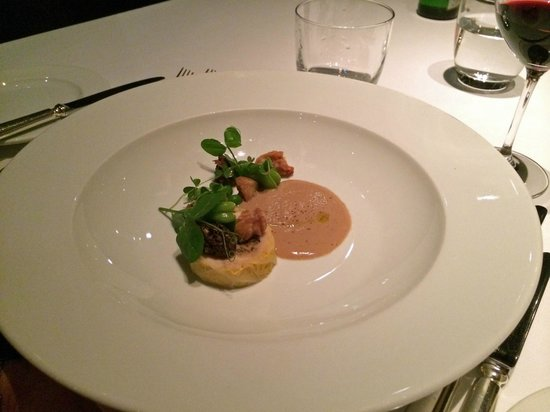 New York Grill: Foie Gras Cream, Daisen Chicken, Morel Mushrooms, Sweetbreads, Green Beans