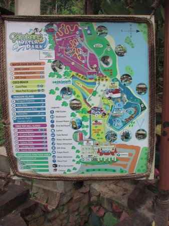Bukit Gambang Resort City: Water Park Map
