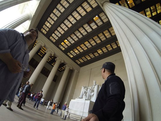 Lincoln Memorial: Looking up to him