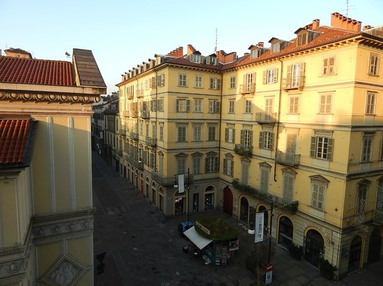 Grand Hotel Sitea : The square outside our window
