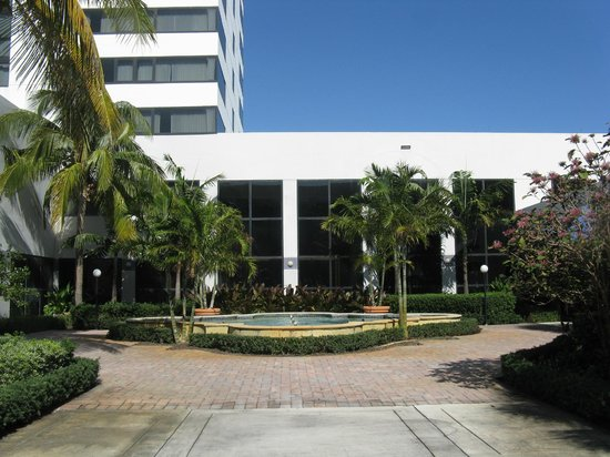 Sheraton Fort Lauderdale Airport & Cruise Port: back couryard